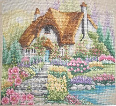 "Рхема вышивки Весна в деревне"""
