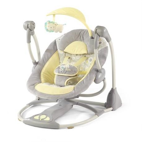 Детское кресло-качеля Bright Starts InGenuity Smart & Quiet Portable Swing, Briarcliff Fashion (6985)