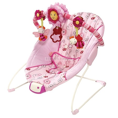 Детское кресло-качеля Bright Starts Pretty In Pink, Cradling Bouncer (6871)