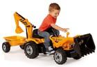 Детская машинка Smoby Трактор Builder Max с прицепом (033389)