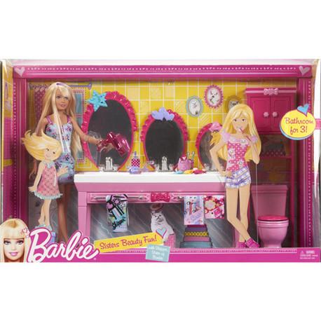 Детская игрушка Barbie Сестричка Барби с набором мебели