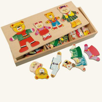 Детская игрушка Bino Шкаф для одежды Семья Медведей