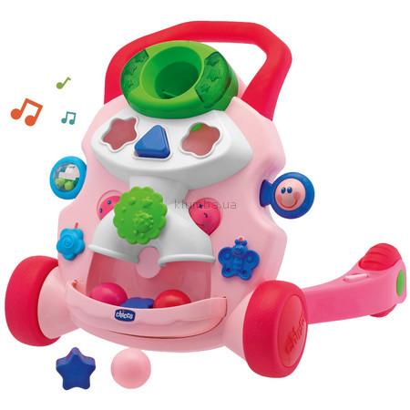 Детская игрушка Chicco Ходунки Первые шаги (розовые)