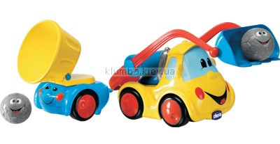 Детская игрушка Chicco Бульдозер и самосвал