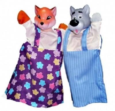 Детская игрушка ЧудиСам Набор для кукольного театра Волк и Лиса