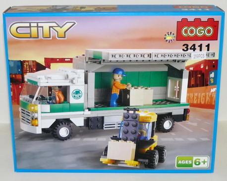 Детская игрушка Cogo Разгрузка машины с товаром