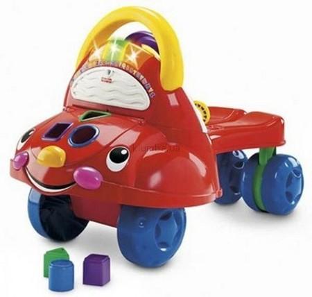 Детская игрушка Fisher Price Ходунки-Каталка Веселая машинка