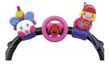 Детская игрушка K's Kids Розовая гусеничка, руль и мобильный телефон на креплении