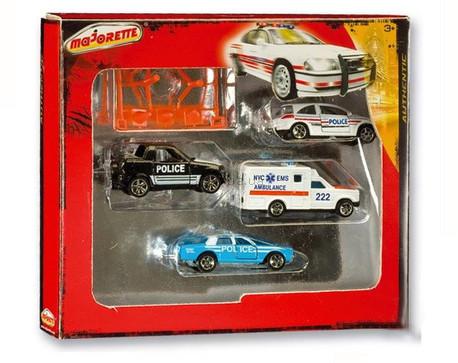 Детская игрушка Majorette Набор из машинок Authentic Полиция и скорая помощь