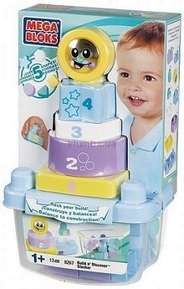 Детская игрушка MEGA Bloks Пирамидка-неваляшка, Пастельные цвета