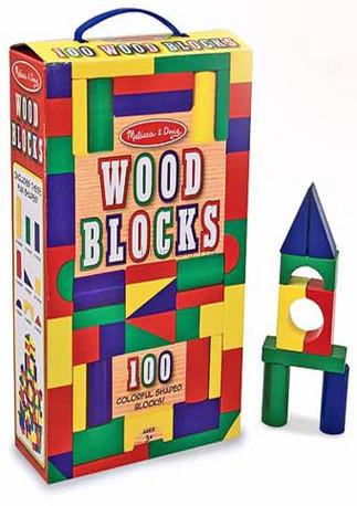 Детская игрушка Melissa&Doug 100  кубиков