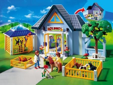Детская игрушка Playmobil Ветеринарная клиника с вольерами