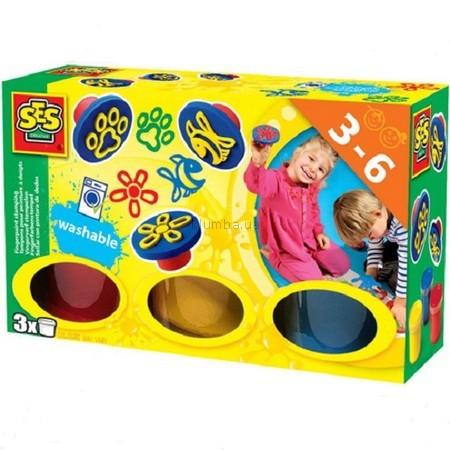 Детская игрушка Ses Набор пальчиковых красок  Цветные штампы