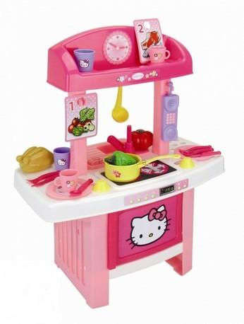 Детская игрушка Smoby Моя первая кухня Hello Kitty с аксессуарами (24635)