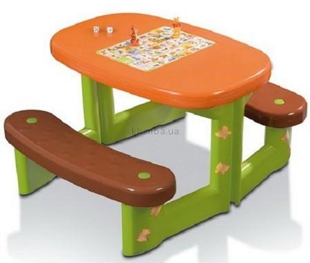 Детская игрушка Smoby Столик со скамейками Винни-Пух и набором игры Лотто