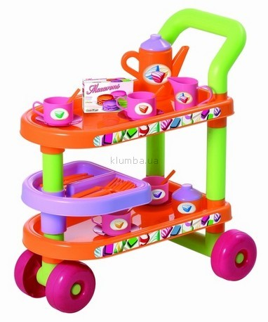 Детская игрушка Smoby Тележка с посудой  (Ecoiffier)