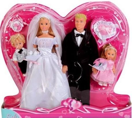 Детская игрушка Steffi Love Свадебный набор: Штеффи, Кевин, Ева и Тимми
