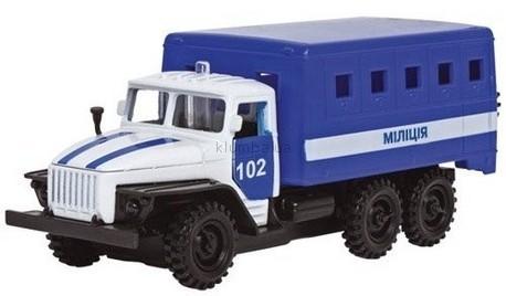 Детская игрушка Технопарк Автомодель Урал Милиция