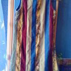 Платье с молнией на спине, комбинировано вельветовыми и джинсовыми вставками, 140-146 см