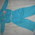 Новый костюмчик с начесом для девочки 74р.