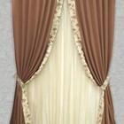 Комплекты: шторы+тюль