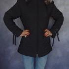 Чернобурка М/46-48 осенняя/зимняя женская черная куртка с натуральным мехом черный пуховик