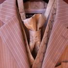 Светлый костюм-тройка в полоску от Воронина
