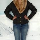 Dede Jeans London М-46 разм. женский черный пуховик черная зимняя куртка б.у.