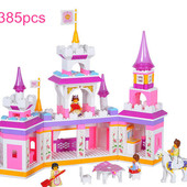 Конструктор M38-B0251 Замок для принцессы 0251 Розовая мечта, слубан