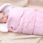 Конверт для новорожденного демисезонный (термо), на выписку из роддома (розовый, белый) Baby Line