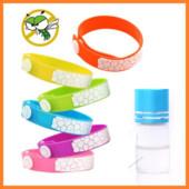 Малиновый силиконовый браслет с маслом - защита от комаров на месяцы