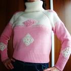 Новый шерстяной свитер ручной работы