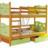 Кровать Jarek + матрасы + ящики