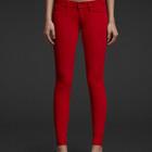 Abercrombie & Fitch вильветовые штанишки алые из Америки оригинал