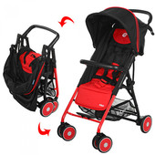 New! Прогулочная коляска-трость Bambi Pilot M 3294-3, красная