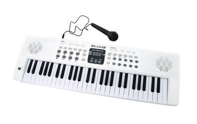 Музыкальная орган, синтезатор от сети и батареек, с микрофоном, 54 клавиши,200 ритмов фото №1