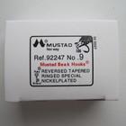 Крючки Mustad № 9, 100 шт. в пачке