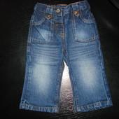 моднявые джинсы Next 9-12 мес пояс-регулируется состояние новых