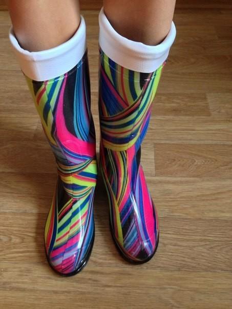 Резиновые сапоги радуга. наложка фото №1