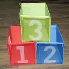 Коробки для игрушек Ikea, синий/зеленый/красный с цифрами, 3 шт. Наличие Луганск