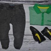 9 - 12 месяцев 80 см Rebel Рейбел Обалденные фирменные джинсы для моднявок
