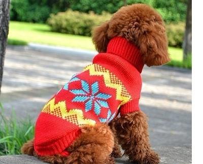 Теплая зимняя одежда для животных свитр комбинезон для кошек собак фото №1