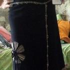 Чёрная длинная юбка