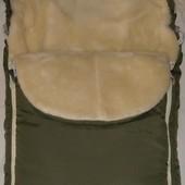 Конверт детский зимний овчине для малышей в коляску, санки