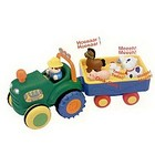 Игрушка на колесах - Трактор с трейлером (на колесах, свет, озвуч. укр. яз.)