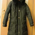 Зимнее пальто пуховик с капюшоном