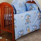 детское постельное белье в кроватку c 6 эл (без балдахина и кармана).Мишки на луне