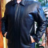 Мужская кожаная куртка на зиму