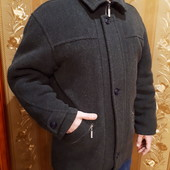 Мужское теплое шерстяное пальто на зиму, размер XL