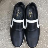 Кожаные мужские туфли. Р:41